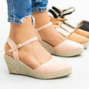 Maurices strap sandal wedges